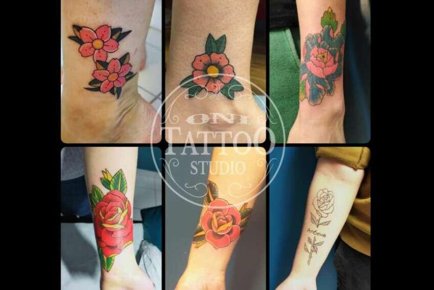 Oni Tattoo Tatouage Queven Lorient Guidel Ploemeur Gestel Quimperle Lanester Traditionnel Old School Japonais Morbihan Bretagne Rose Sakura